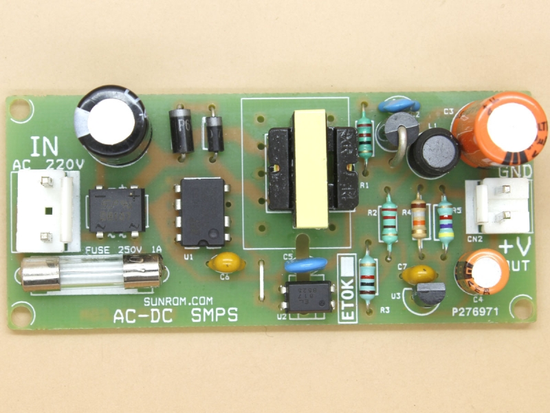 5v 2a Smps Circuit 1447 Sunrom Electronics Technologies