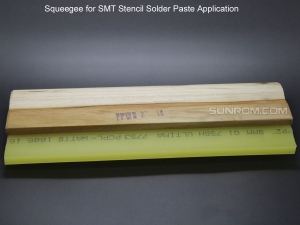 Squeegee for SMT Stencil Solder Paste Application