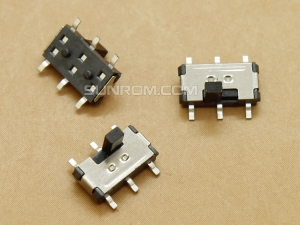 Slide Switch SMD 2P2T - 6 pins - Side Offset Knob