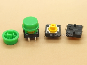Green Round Cap for Omron B3F Series Switches