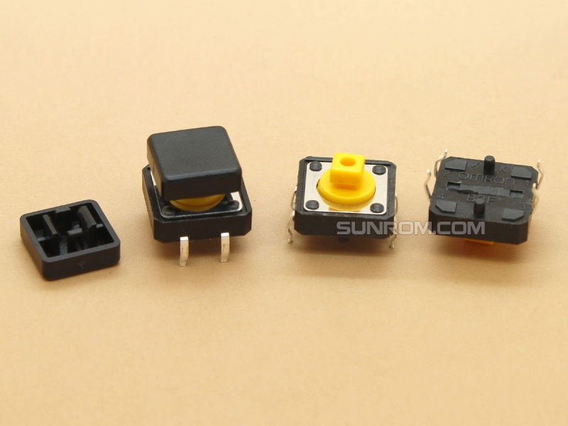 Black Square Cap for Omron B3F Series Switches