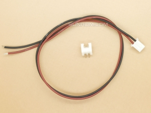 2 pin JST XH, 2.5mm, M+F, Side Entry