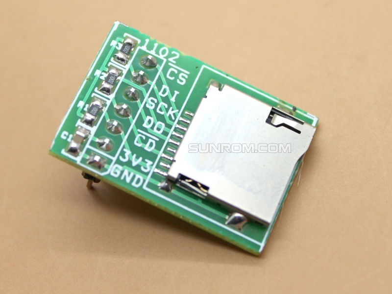 Micro SD Memory Card interface for 3V MCU
