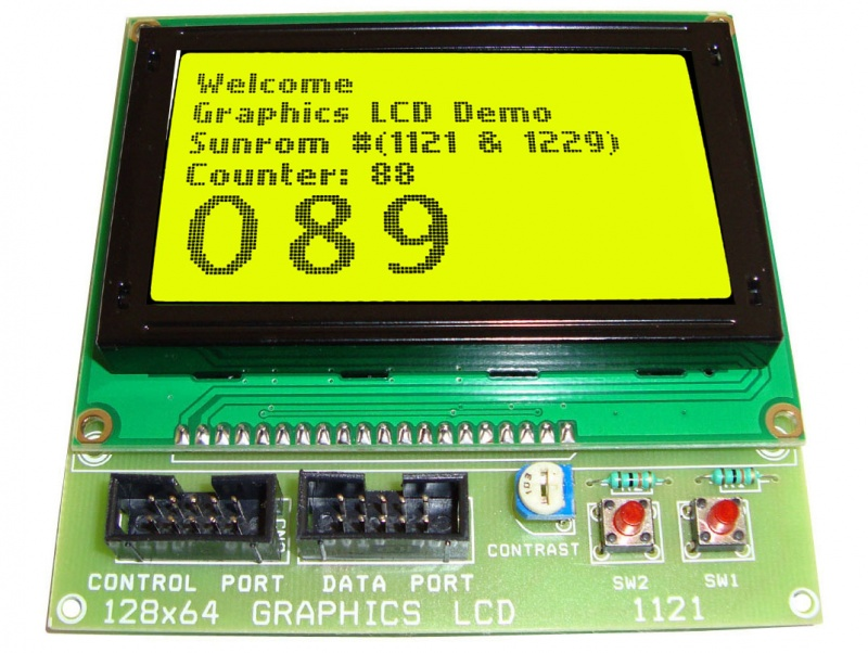 Graphics LCD(128x64 dots) - 2x Switches Board