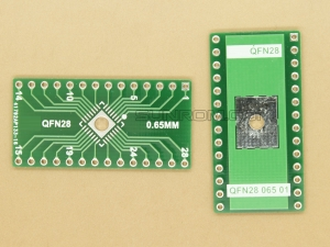 QFN28 0.65mm SMD Adapter PCB