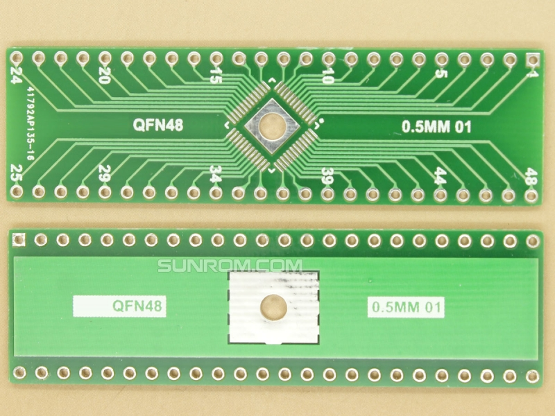 QFN48 0.5mm SMD Adapter PCB