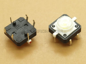 Switch with White LED 12x12x7.3mm