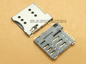 Micro SIM Card Socket - 6 pins - Spring Loaded Push type