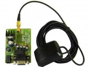 GPS Receiver with Active Antenna, RS232