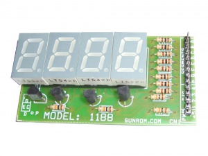 Multliplexed 4 digit Seven Segment Display
