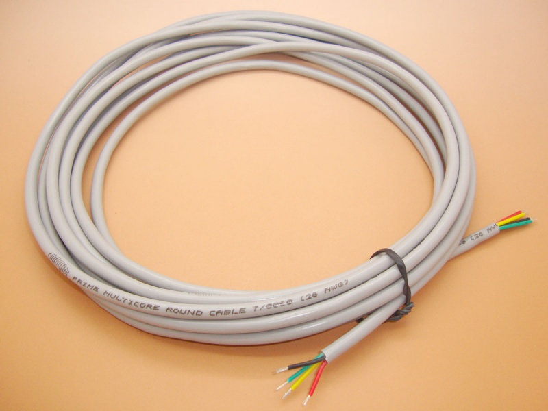 4 Core Cable, 5 Meters per quantity