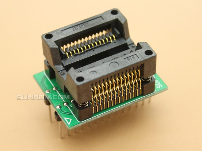 SOIC28 1.27mm ZIF Socket