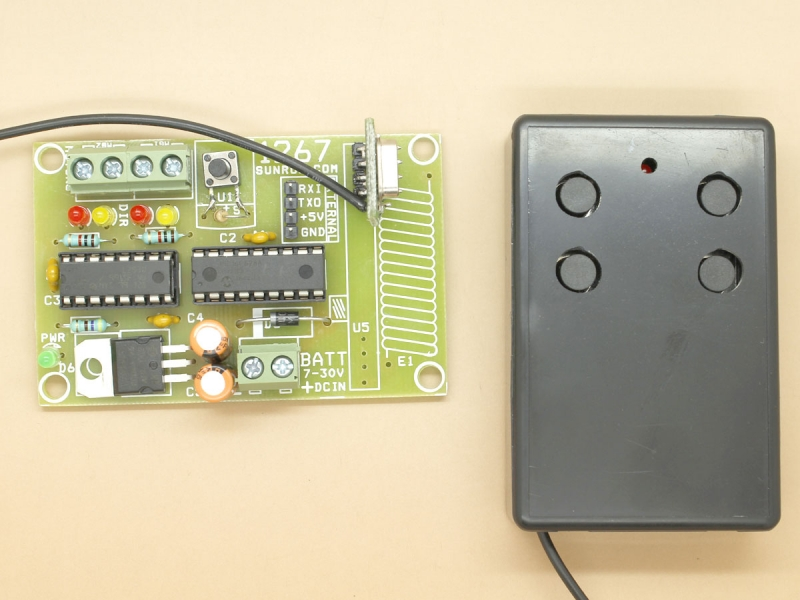 RF Remote for Robot 2x DC Motors