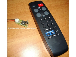RC5 format Remote + Serial Output Decoder