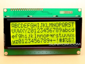 20x4 LCD Black on Yellow/Green