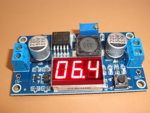 DC-DC Step Down Switching Regulator based on LM2596 + Display