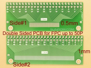 FFC / FPC Breakout PCB for 0.5mm & 1mm up to 50 pins