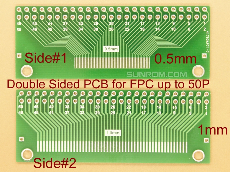 Ffc Fpc Breakout Pcb For 0 5mm Amp 1mm Up To 50 Pins 4667