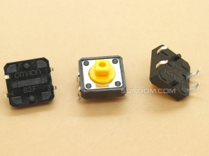 Tactile Switch Square Head - Omron B3F-4055 - 12x12x7.3mm