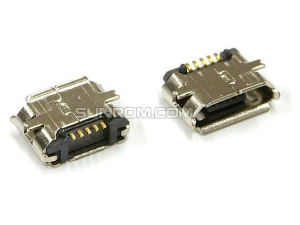 Micro USB Connector, B Female, 5 Pin SMD
