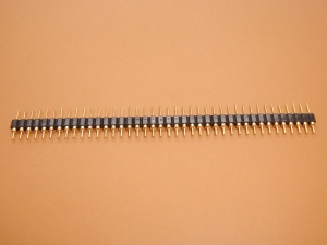 40x1 Header Strip, Machine Round Pins