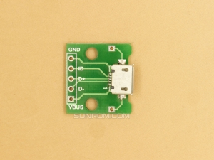 Micro USB PCB with connector soldered
