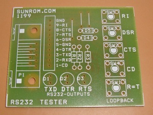PCB for RS232 Interface Tester