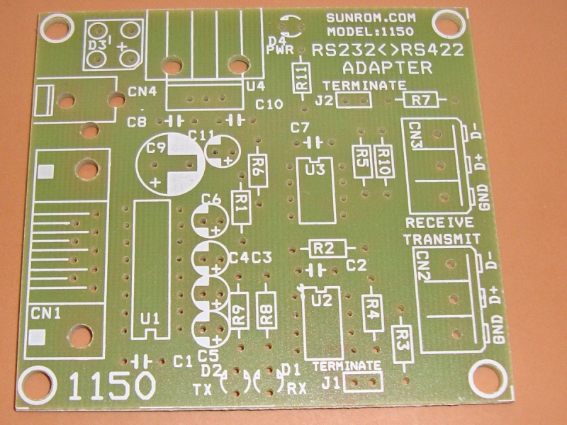 Pcb for rs232 to rs485 full duplex 4567 sunrom electronics pcb for rs232 to rs485 full duplex sciox Images