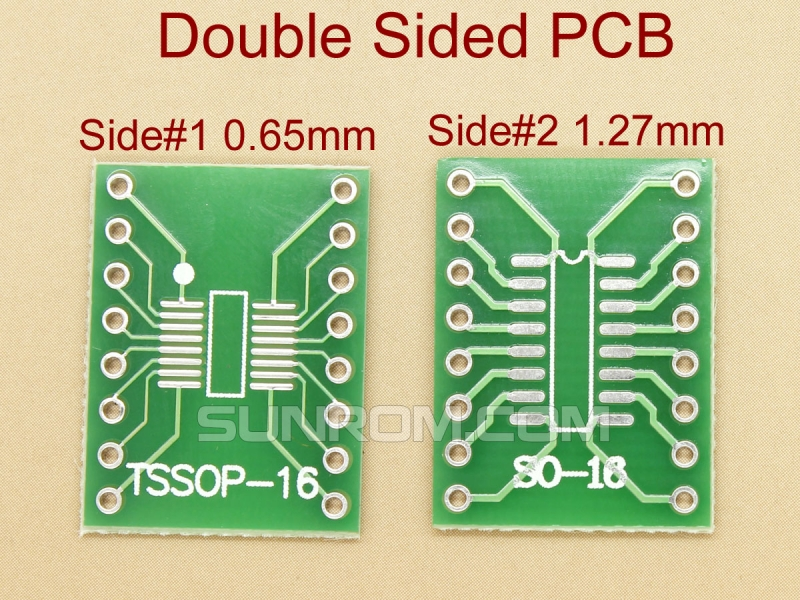 SOIC16 SSOP16 0.65mm 1.27mm SMD Adapter PCB