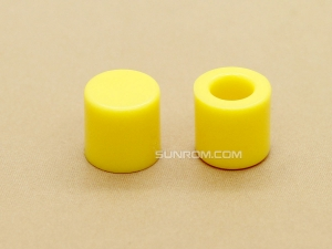 Yellow Cap for 6x6mm Tactile Switches - 6.2mm Diameter