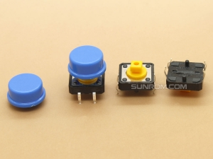 Blue Round Cap for Omron B3F Series Switches