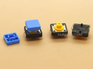 Blue Square Cap for Omron B3F Series Switches