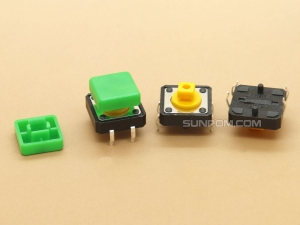 Green Square Cap for Omron B3F Series Switches