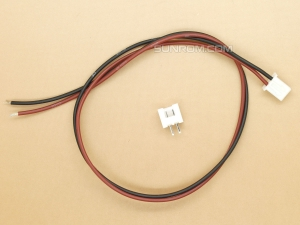 2 pin JST XH, 2.5mm, M+F, Top Entry
