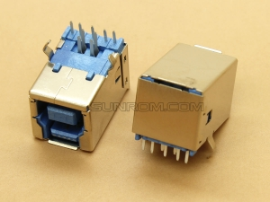 USB 3.0 B-type Female 9 Pin 90 Deg Right Angle PCB Mount