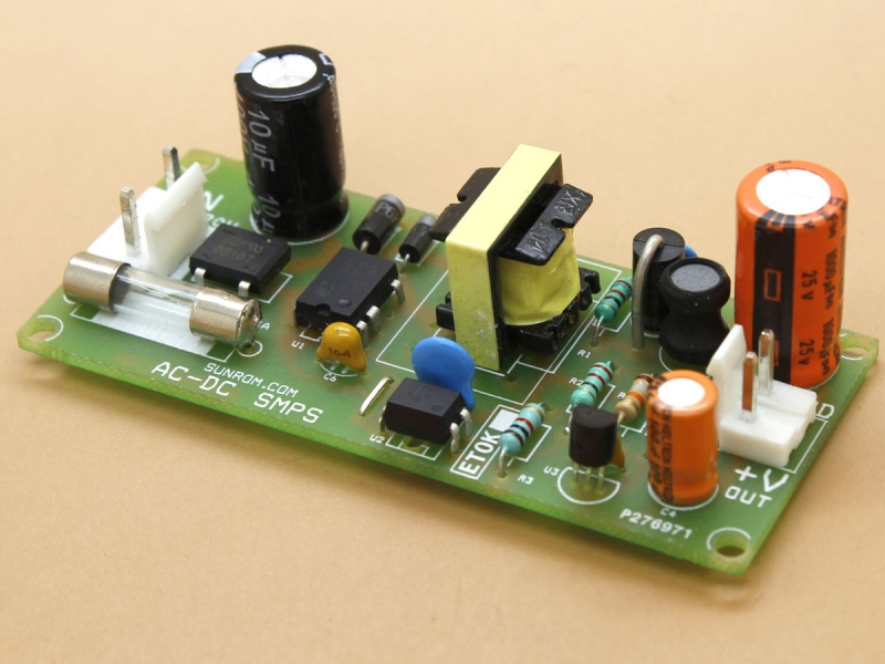 12v 1a Smps Circuit  1439    Sunrom Electronics  Technologies