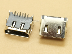 HDMI A-type 19P HD Female Double Row Through Hole