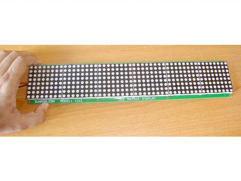 Led Moving Message Display 362x72mm 1113 Sunrom Electronics
