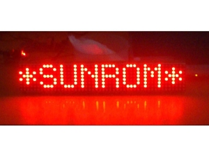LED Moving Message Display 362x72mm