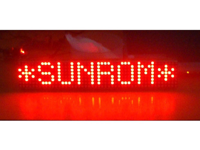 Led moving message display 362x72mm 1113 sunrom electronics led moving message display 362x72mm ccuart Choice Image