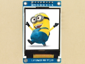 "Color LCD - TFT 1.8"" - 128x160 - ST7735 - SPI - 3V3"