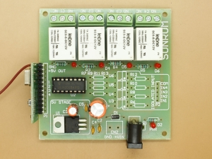 RF Remote Control Receiver Only - 4 Relays
