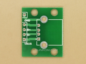 USB A-Type Female Breakout PCB