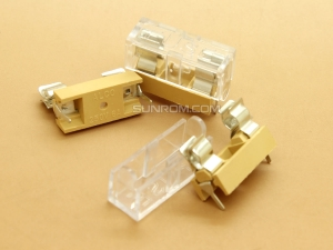 Fuse Holder with Transparent Cover for 5x20mm Fuses - PCB Mount