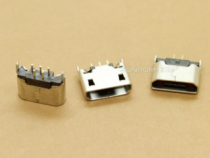 Micro USB Connector - B Female - 5 Pin Through Hole