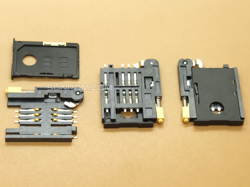 SIM Card Holder - 6 pin - Push In - Eject Yellow Pin - SIM Tray