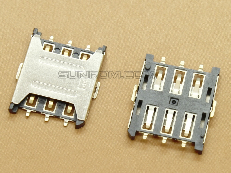 Nano SIM card Socket - 6 Pins - Push In type