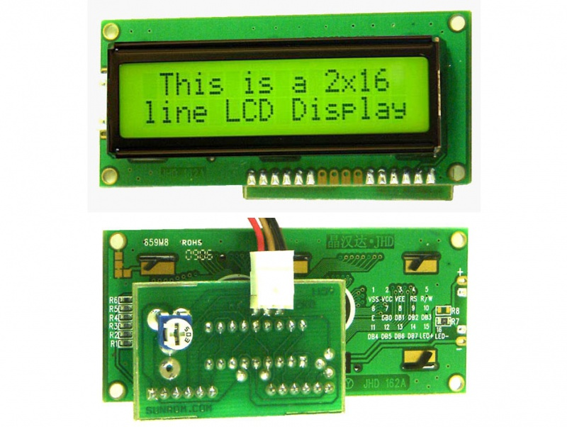 16x2 Lcd Serial Input 1159 Sunrom Electronics