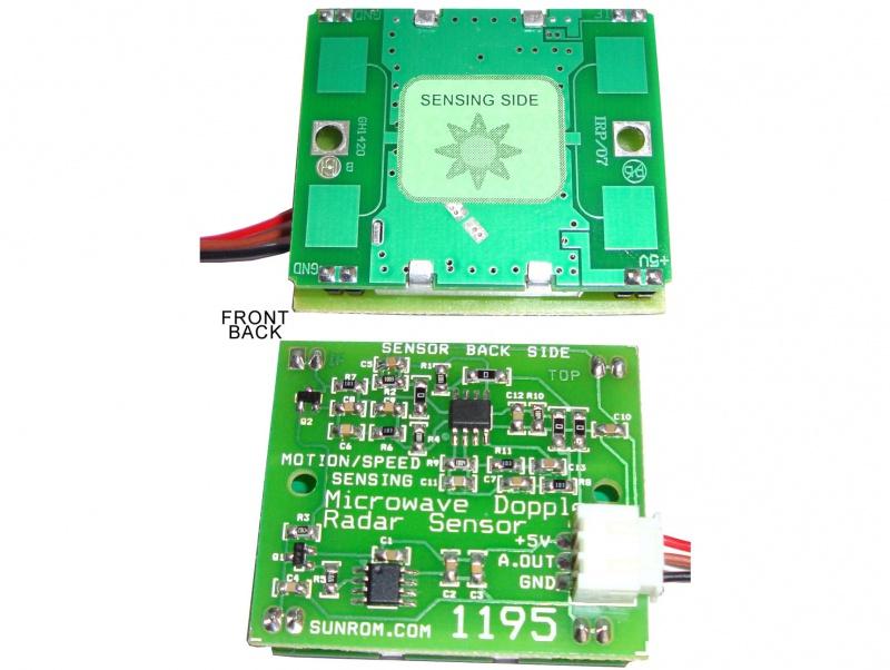 Microwave Doppler Radar Sensor For Motion And Speed