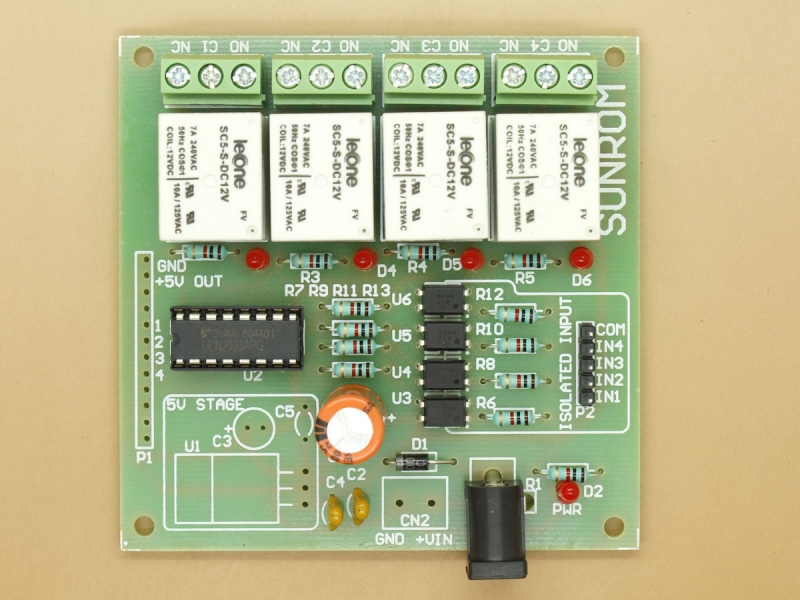 fuse box spacer relay board 4 channel  5284  sunrom electronics  relay board 4 channel  5284  sunrom electronics